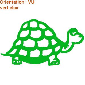 Adhésif mural : sticker tortue pour le fun (zlook tortue animaux)