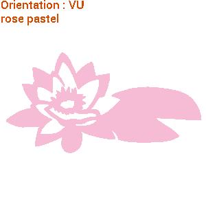 Décoration fleurie adhésive : zlook sticker fleur de lotus.
