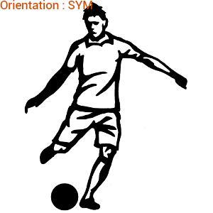 Sticker foot autocollant passe au football par zlook footeux.