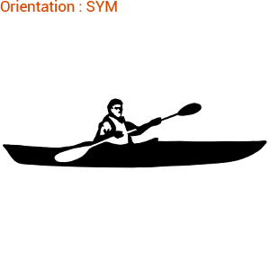 Autocollant sport pour coque de bateau, kayak et canoë : zlook sport.