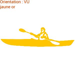 Le kayak est un sport très engagé : zlook kayakiste avec atomistickers sports.