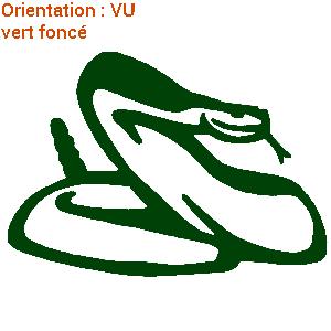 CE serpent à sonnette est en vinyle adhésif : personnalisation par ATOMIstickers.