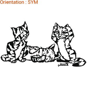 Les chats en stickers par zlook chaton sont adhésifs.
