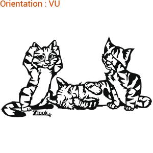 Trop mignon ce chat en sticker par ATOMIstickers !