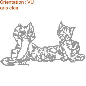 Les 3 chats de zlook autocollants chat vous feront craquer.