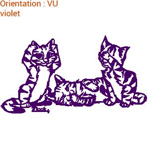 Adhésif mural de chats pour déco j'aime les chats sur zlook.