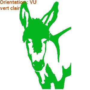 Signalétique de van : atomistickers chevaux et ânes.