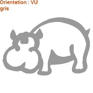 Les cartoons sont aimés des enfants : zlook kids avec stickers hippopotame.