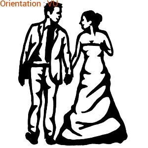 ATOMIStickers groom personnalisable amour mariée fiancée sticker bride.