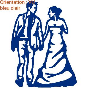 Cérémonie de mariage personnalisée avec les stickers mariés d'ATOMIstickers.