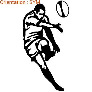 Le rugby est un sport de contact : atomistickers plaira aux passionés de rugby.