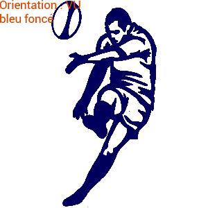 Passion rugby en autocollant sport : zlook rugbyman pour déco.