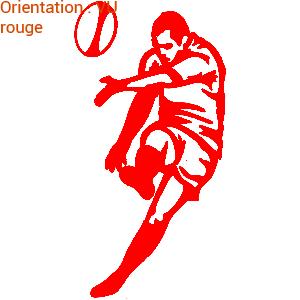 ATOMIStickers sticker sensations vinyle rugbymen football rugby.