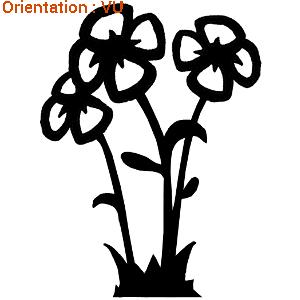 Autocollants fleurs pour déco de cuisine : zlook fleuri adhésifs vitres.