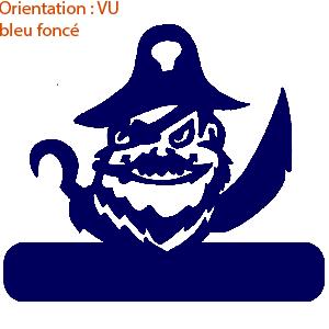 A l'abordage ! les stickers bateaux de pirate sont disponibles en 14 coloris sur zlook.