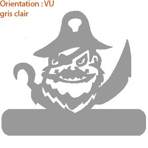 Les stickers pirates des mers sont dispo en vinyle adhésif sur zlook.