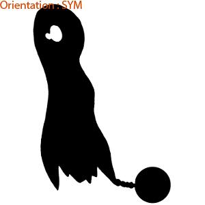 Halloween est une tradition américaine : atomistickers propose ce sticker fantome avec un boulet.