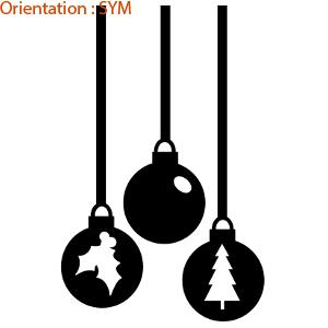 Stickers Noël : zlook sapin pour décorer des vitres pour les fêtes.