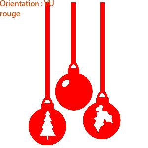 Kit stickers Noël pour déco de vitres par zlook festif.