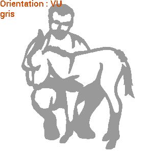 Un sticker cheval ou âne : autocollant élevage ânes par zlook adhésif.