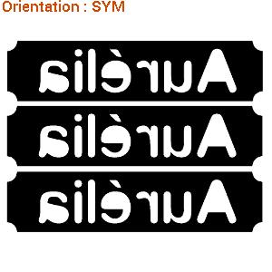Grand choix de stickers signalétique (lettres autocollantes pour coque de bateau)