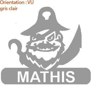 Sticker pirate avec bateau de pêche zlook prénom.