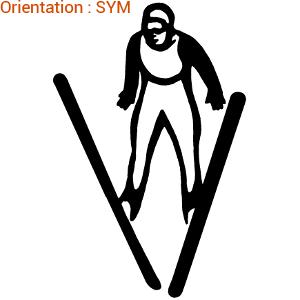 Autocollant ski pour décorer un sac de sport (zlook skieur)