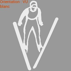 Atomistickers sportifs zlook saut à ski