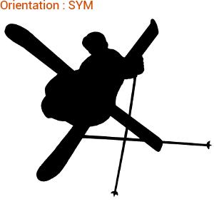 Silhouette de skieur en vol adhésif haute tenue vendu sur atomistickers zlook.