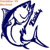 Les autocollants poissons de pêche de zlook sont prévus pour immatriculer un bateau avec adhésifs.