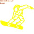 Le snowboard est à l'honneur en sticker sur zlook sports adhésifs.