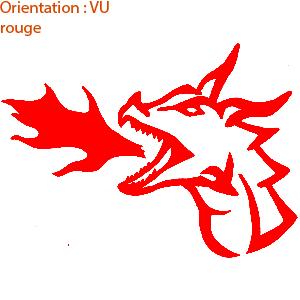 Stickers plaque de porte : autocollant dragon (zlook fantasy adhésifs)