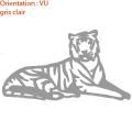 Ce tigre majestueux fera un beau sticker mural pour votre salon (zlook jungle).