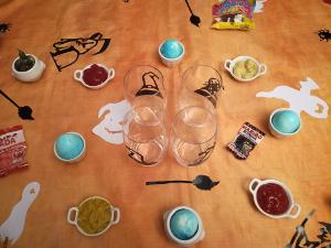 Décoration de table pour Halloween avec les autocollants Haloween de Zlook.