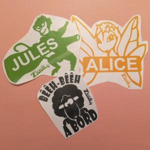 Promotion de novembre sur les autocollants Zllok : 1 sticker acheté = 1 offert sur les adhésifs bébé à bord