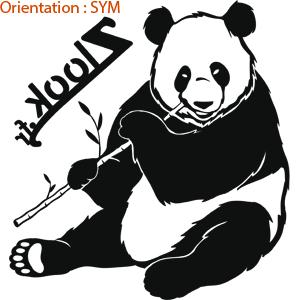 Joli sticker pour voiture : j'aime les pandas