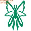 Le papillon adhésif permet une décoration buccolique d'une vitre de voiture : zlook nature papillons