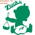 Sticker bébé à bord rigolo pour chimiste atomistickers